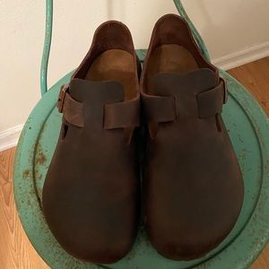 Oiled leather Birkenstock London shoes 💕